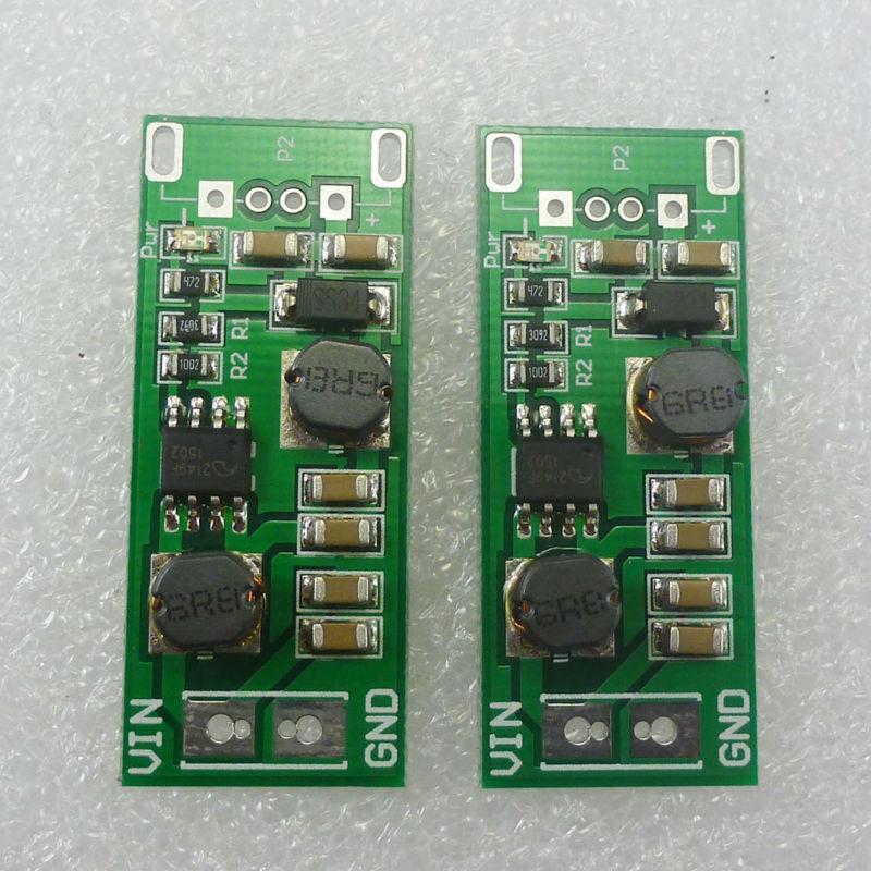2pcs 1-6V до 5V понижающего импульса DC DC преобразователь напряжения совета для портативного солнечного зарядного устройства