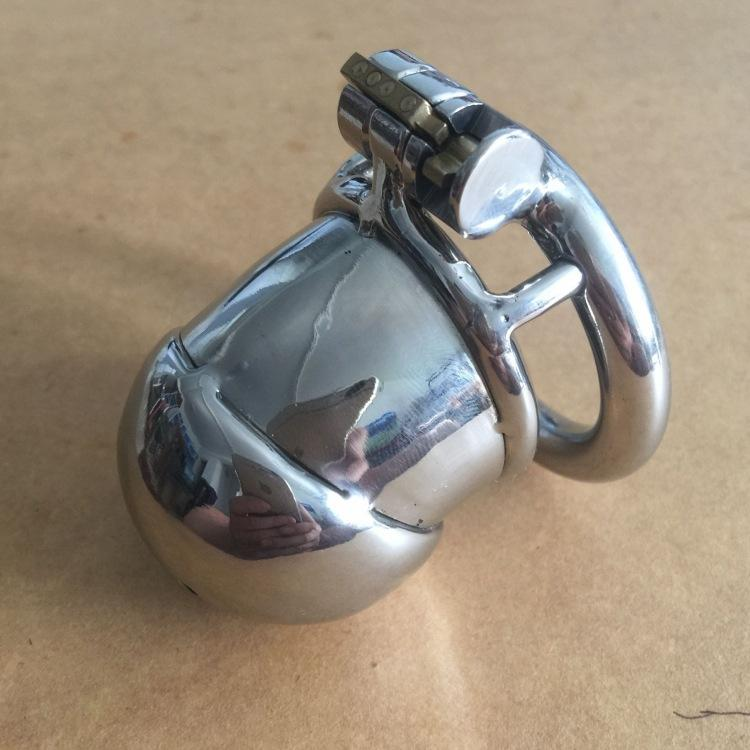 Chastity Devices Cock Cage Adult Toy New Male chastity lock male cb short steel metal catheter penis bondage bdsm bondage penis ring