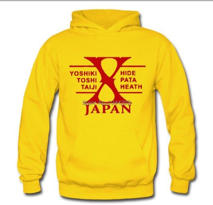 Оптовая продажа-8 цветов новый прибыл зима осень мужская рок-группа X-Япония толстовка хэви-метал музыка X Япония пуловер пальто