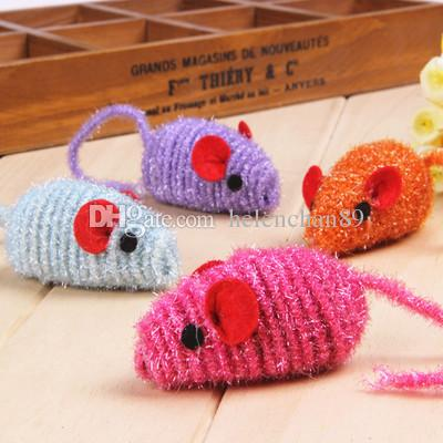 Pet Cat Spring Rope Toy Mouse Cat Cute Animal Shape Toys For Small Medium Large Pets Drop Shipping Raondom Color Delivery 100pcs/ lot