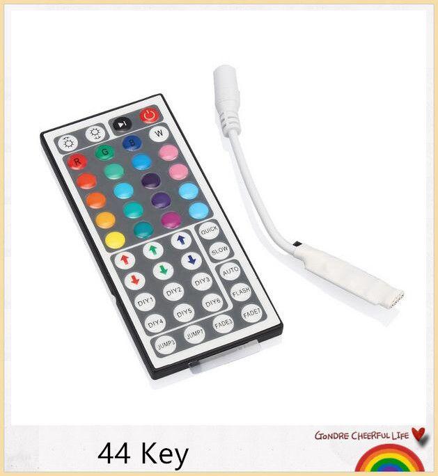 YON Frete grátis 44 Teclas Sem Fio IR Controlador Remoto Dimmer Para RGB 3528 5050 Luz de Tira Led