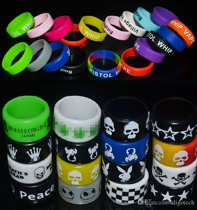 2020 Ecigarette Silicone Vape Band Silicon Bands Colorful Rubber Vape Band Ring Non-Slip Bands Free Shipping
