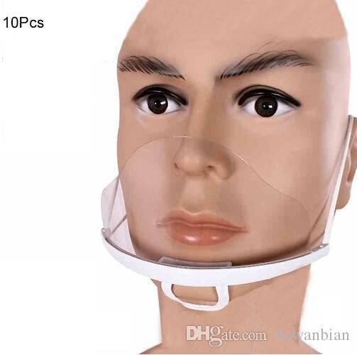 10 Pcs de Plástico Transparente Máscara Facial Ambiental para Tatuagem Suprimentos de Limpeza Maquiagem Permanente Accessorie Acessórios de Tatuagem