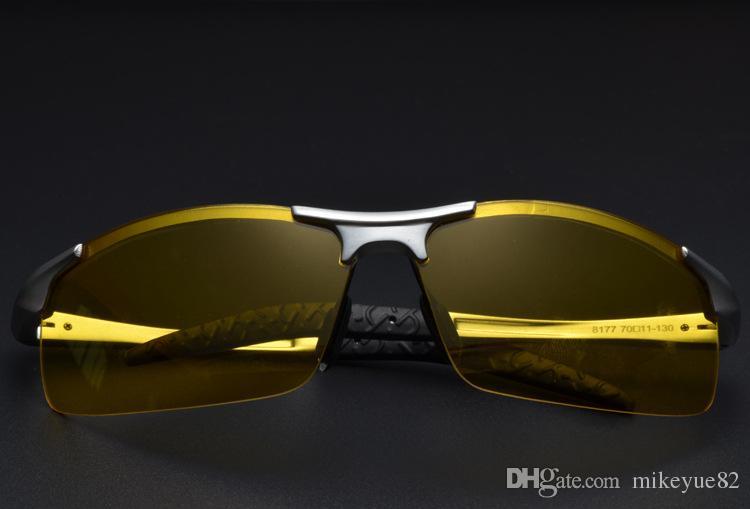 Lunettes de conduite de nuit pour lunettes de nuit Polarisées Vision nocturne Lunettes de soleil pour hommes Lunettes de protection