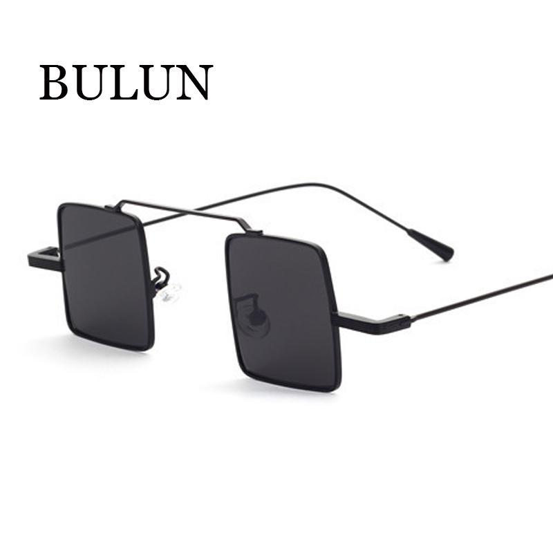 BULUN Nova Marca Quadrado Óculos De Sol Das Mulheres Designer De Marca Retro Pequeno Quadro Óculos De Sol Das Mulheres Ao Ar Livre Oculos De Sol Feminino Gafas