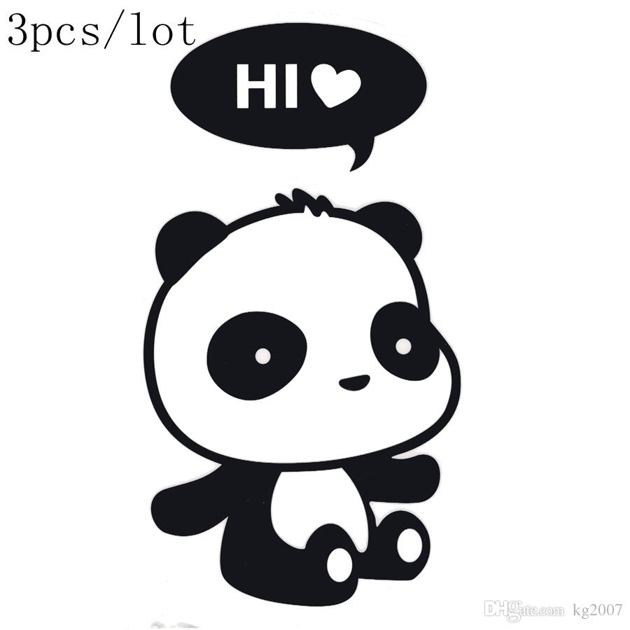 Panda DIY poster Stickers funny wall stickers for kids rooms home decor wall decals 3 choice 3pcs