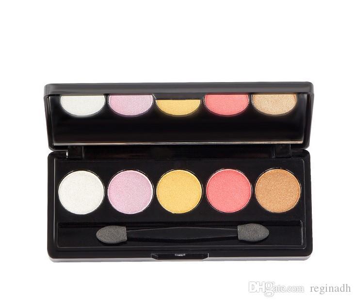 5 цветов Палитра теней для век Косметика Красочный / Бриллиантовый / Жемчужный Тени для век Модный макияж Набор цветных палитр для макияжа с круговыми оттенками