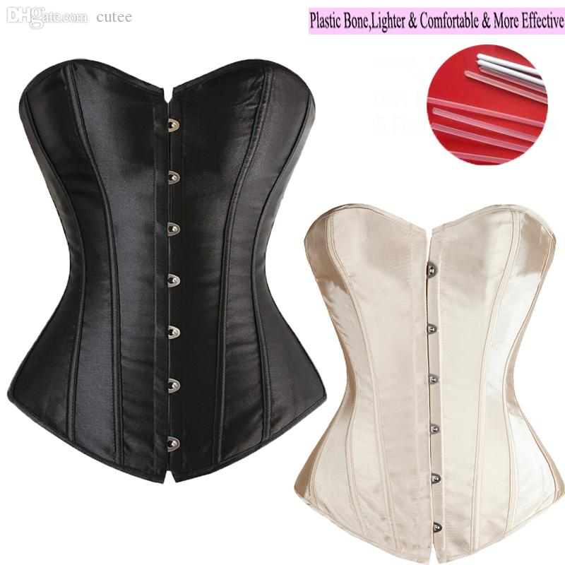 Wholesale-Good Quality 6 Colors Lady Sexy Lace up Boned Overbust Waist Training Corset Bustier Top Waist Trainer Cincher Body Shaper S-6XL