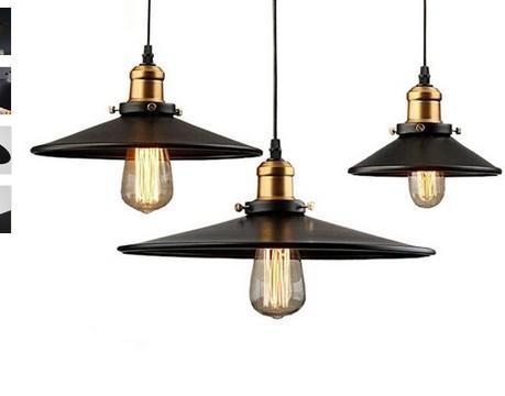 로프트 r 산업 창고 펜던트 조명 미국 국가 램프 레스토랑 / 침실 홈 장식 블랙에 대 한 빈티지 조명
