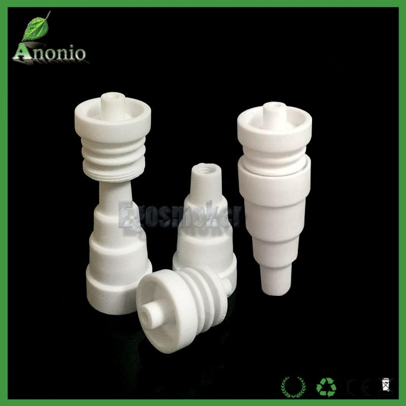 Wholesale 6in 1 Domeless Ceramic Nail 10mm&14mm&18mm Male Female Joint Chinese Ceramic Nails VS Titanium Nail Smoking Accessirues