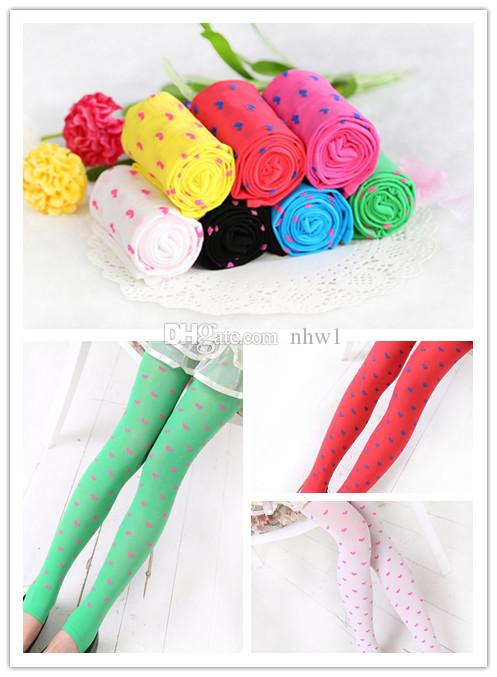 Tights Full For Girls Kids Pantyhose Pantyhose Toddler Trousers Love Heart