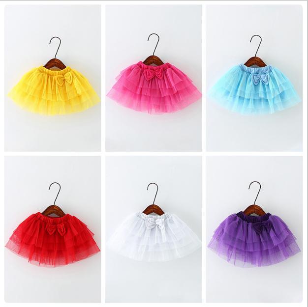 6 colors Christmas Tutu skirts baby infant tutu skirt kids Butterfly Ruffle Pettiskirt birthday dress princess skirts bowknot Skirt D058