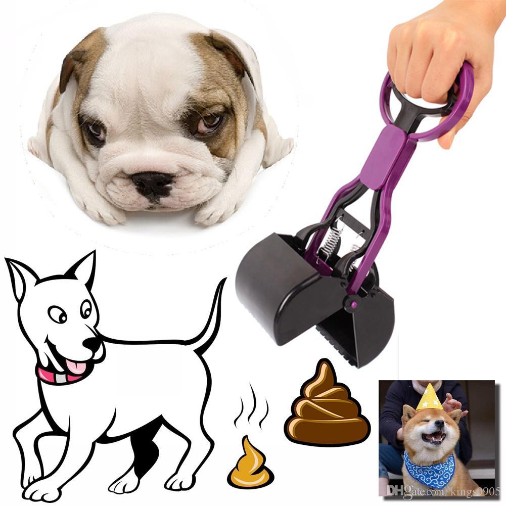 US Portable Dog Pet Pooper Long Handle Scooper Jaw Poop Scoop Clean Pick Up Tool