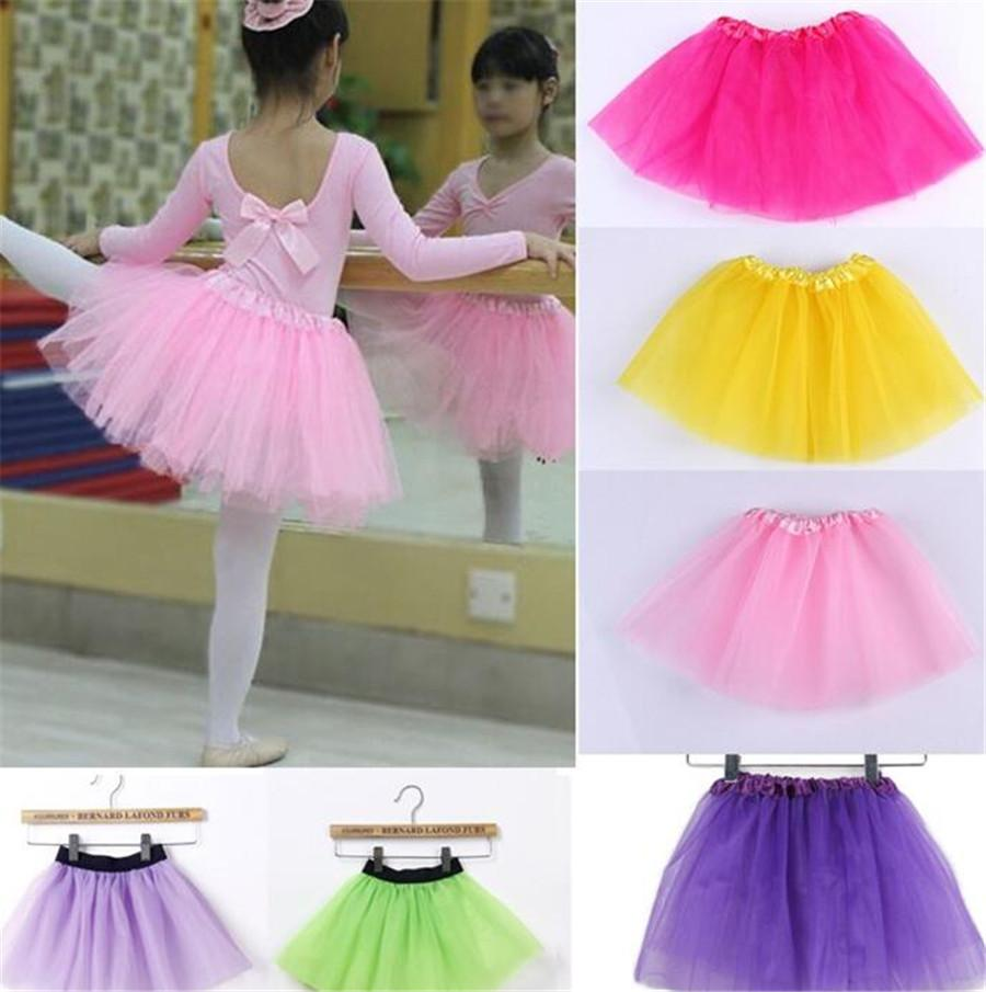 2018 Kids Girls Tutu Dress Candy Color Kids Tutu Skirt Dance Dresses ...