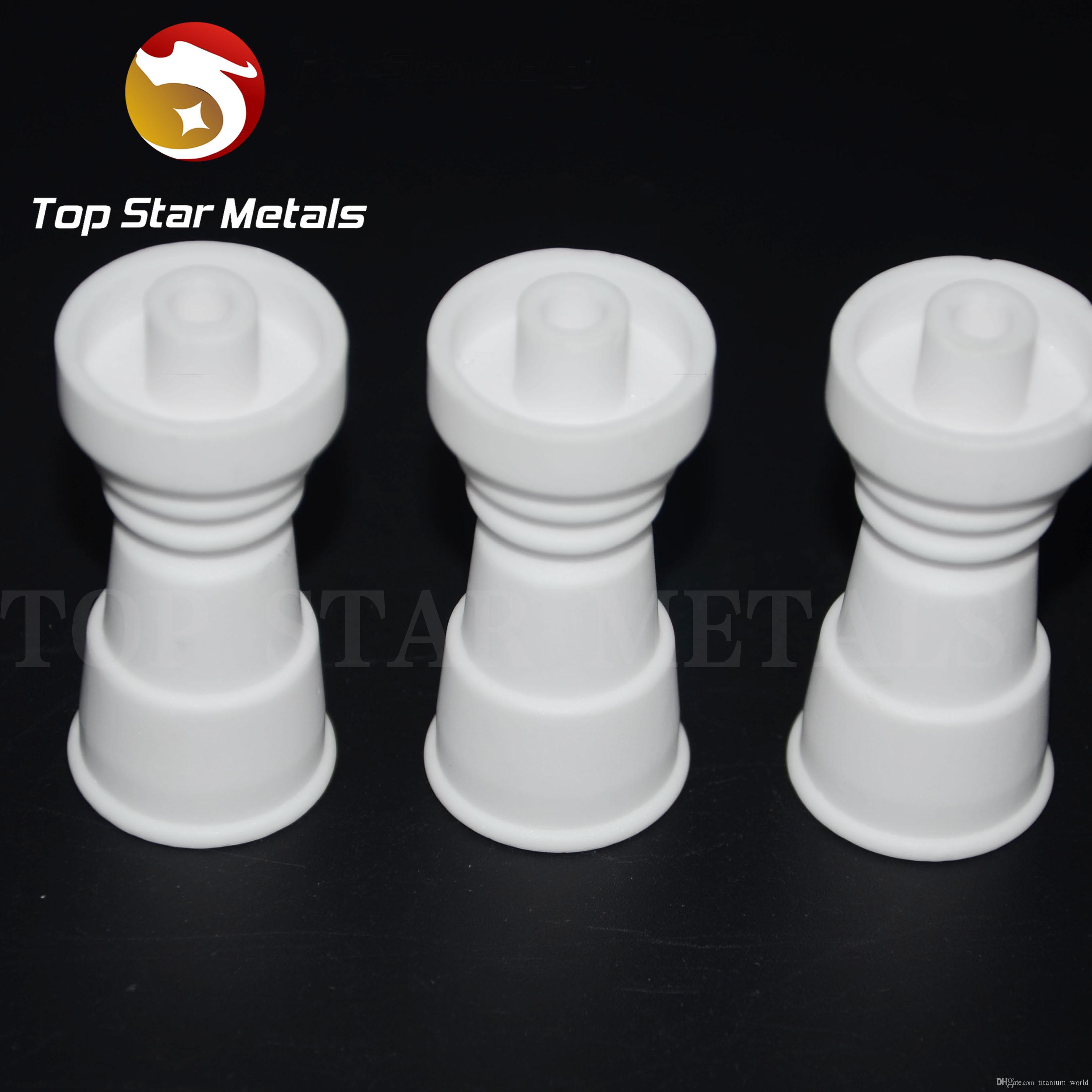 100% de cerámica de calidad alimentaria con clavos de cerámica sin adornos: el diseño de inyección directa se adapta a juntas de vidrio macho de 14 mm y a juntas de vidrio macho de 19 mm