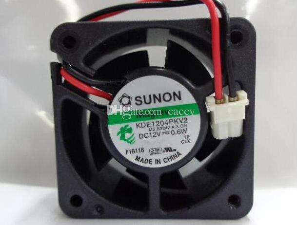 Orginal SUNON KDE1204PKV2 MS.B3242.A.X.GN DC12V 0.6W 4cm 4020 2 Wires 2 Pins Connector square DC Fan