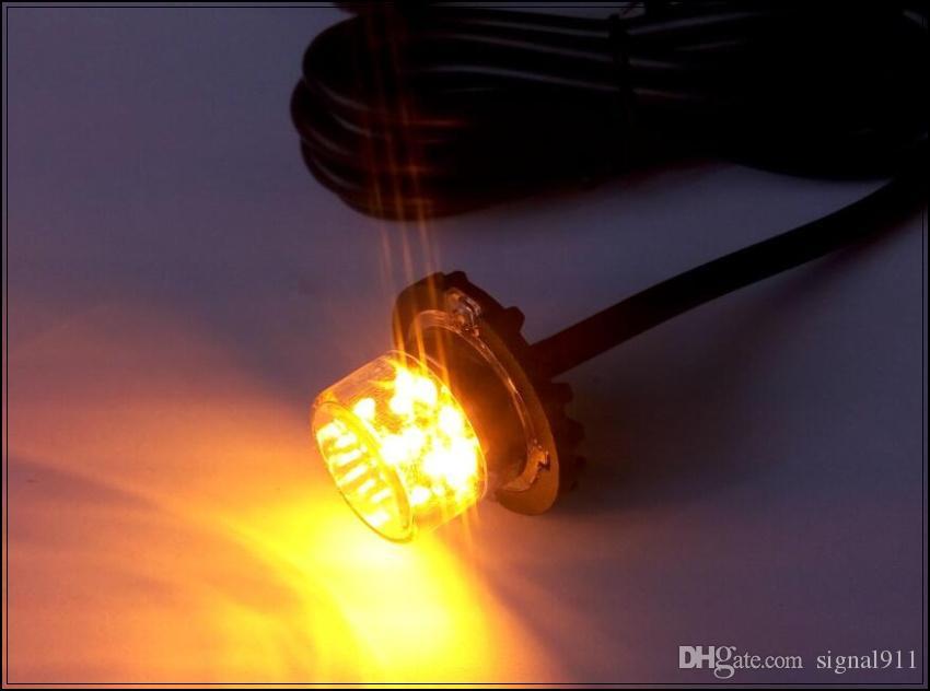 DC12 / 24V, 8W LED-Autogrill-Notlicht, Hideaway-Blitzlicht, LED-Außenwarnlichter, 22flash, wasserdicht IP67