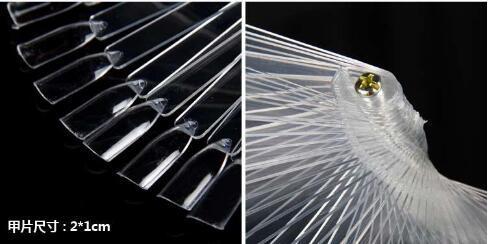 50pcs falsi punte di pratica dell'esposizione del polacco di arte del chiodo bastone trasparente due colori chiari strumenti di trucco di DIY