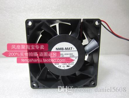Original NMB 3115RL-05W-B60 8CM 8038 24V 0.50A 2-Draht-großen Luftstrom wasserdicht Lüfter
