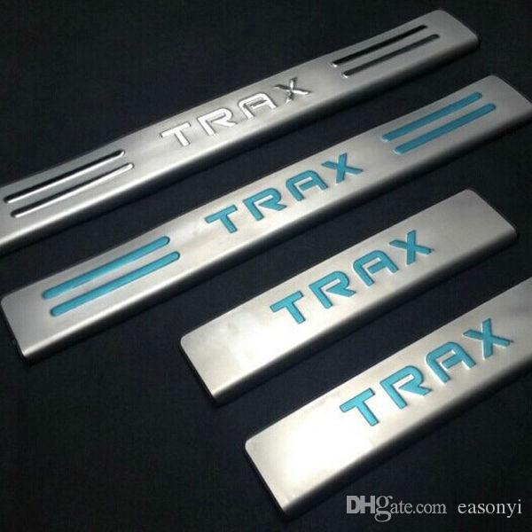 Für 2014 2015 Chevrolet Chevy TRAX Edelstahl Türschwellenverschleißplatte Willkommen Pedal Schwelle Trim Außen Autozubehör