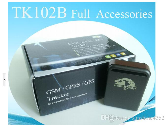 Top Quality Mini Vehicle GSM GPRS GPS Tracker Car Vehicle Real-Time tracking Locator Device with SOS Button TK102B S17
