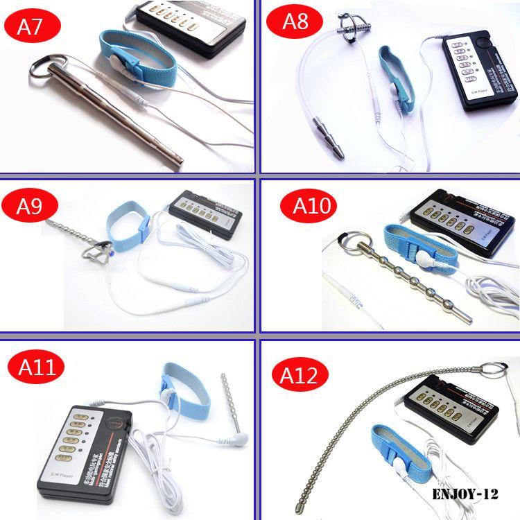 DIY 전기 Urethral 사운드 마사지기 슬림 맥박 자극 전기 충격 요도 카테터 남근 플러그 확장기 섹스 토이 남성 A243 - 2 A
