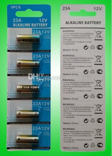 12 فولت 23a البطارية القلوية A23 MS21 / MN21 V23GA LR23 L1028 500 حزم / الكثير
