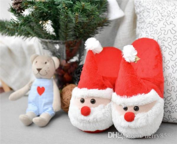 Cheap Santa Claus Slippers Christmas Soft Home Slippers Xmas ...