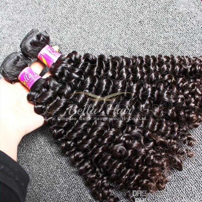 الصف 9A لحمة الشعر المجعد الأسود الطبيعي 10-24 بوصة 2pcs / lot الشعر لواحق أعلى جودة الماليزية شعرة الإنسان الشحن مجانا