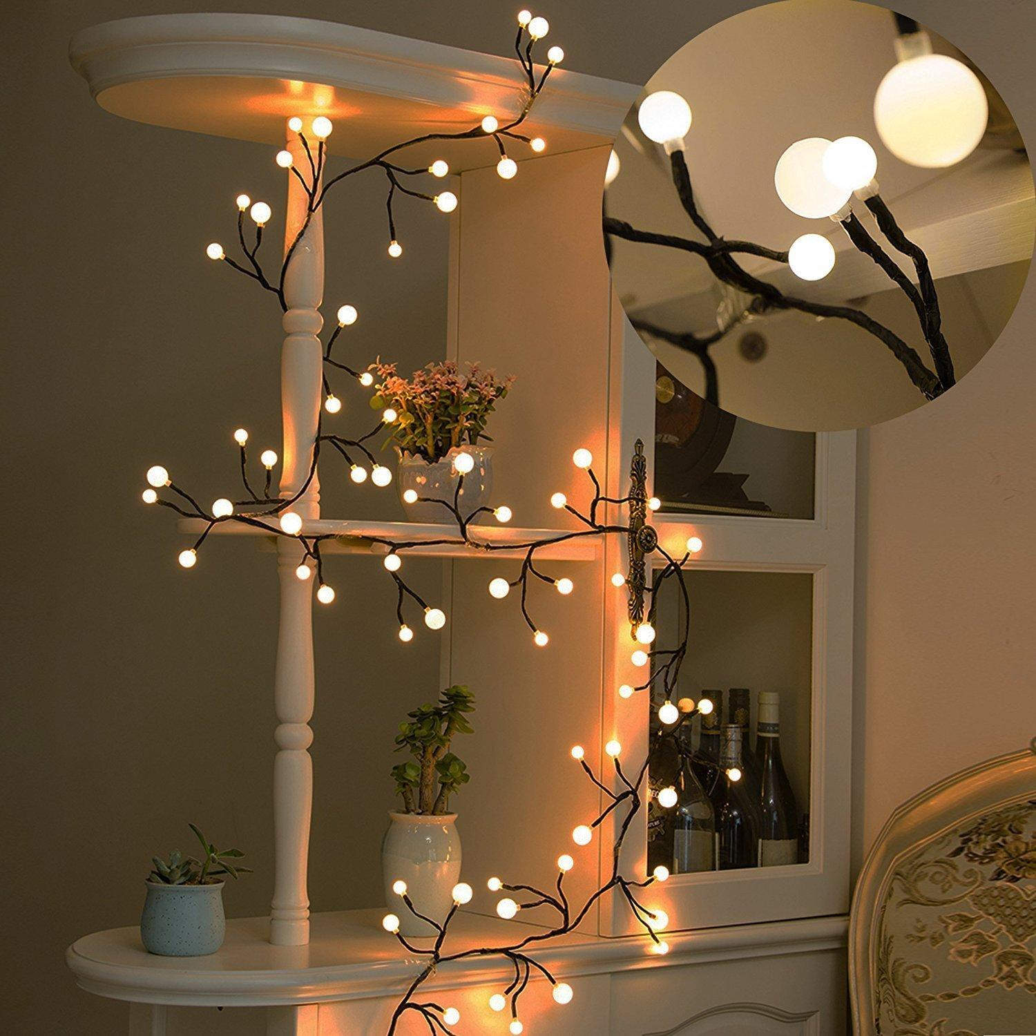 sports shoes 9bdae d0c36 Globe String Lights, 8ft 72 LED Waterproof Outdoor Indoor Fairy Lights  Decorative String Lights For Garden, Party, Wedding Globe Lights String  Clear ...