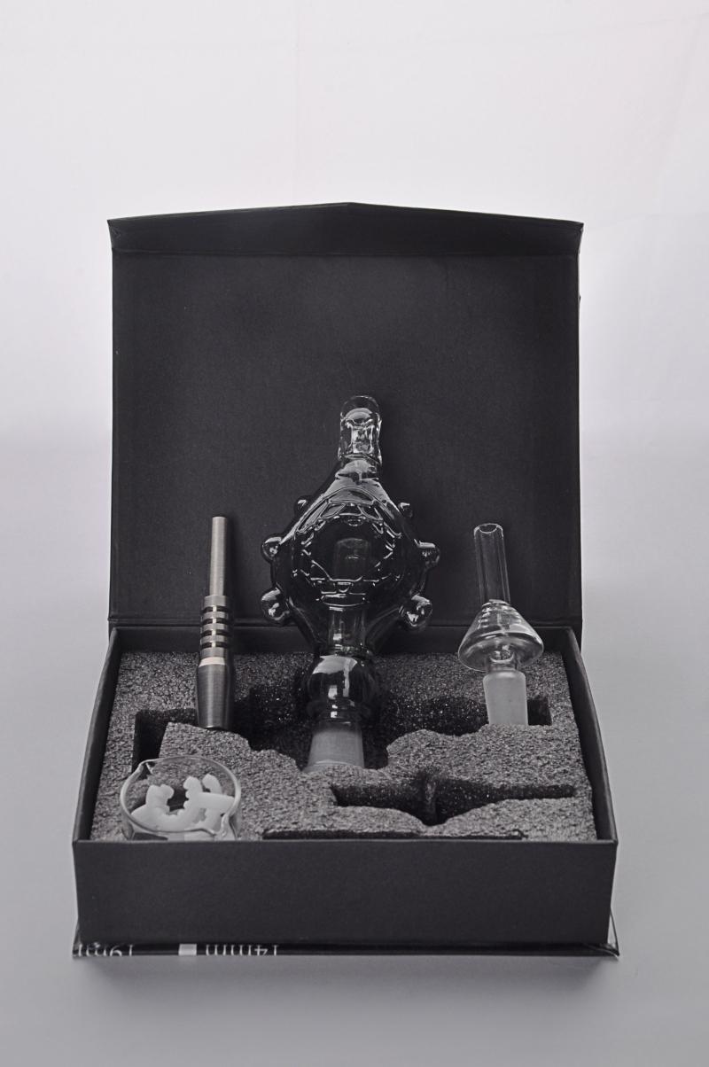Heiße Selling Micro Kit 14mm mit Glas Titannagel Rohr Titan-Nagel-Rauchen Wasserpfeife Bongs