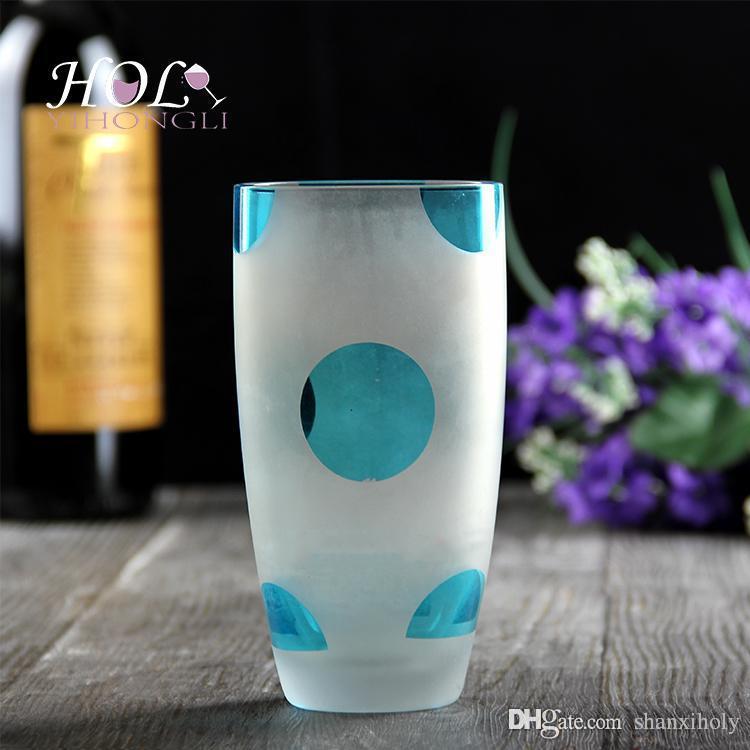 Copo de vidro artesanal personalizado bola alta copo de vidro