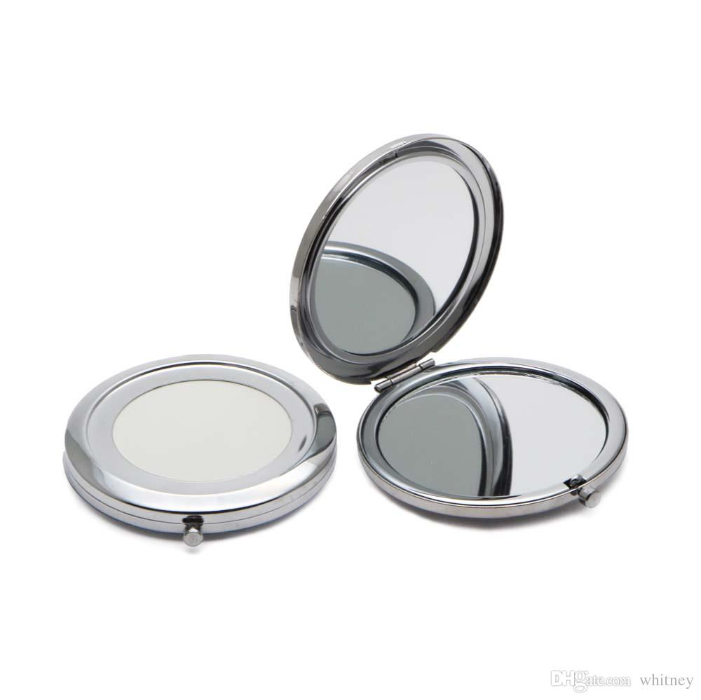컴팩트 거울 DIY 휴대용 금속 화장품 거울 2X 돋보이 실버 컬러 # 18410-1 무료 배송