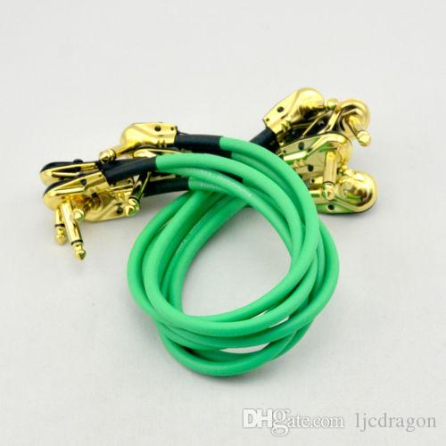 6 X 30CM right angle 1/4 mono guitar effect pedal board cable patch cord GREEN