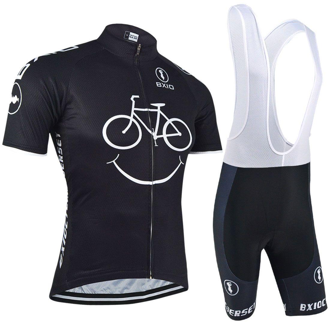 BXIO New Comming Jerseys de ciclismo Yellow Smile Mountain Bike Ropa de manga corta Ciclismo de secado rápido Breathable Bikes Clothes BX-085