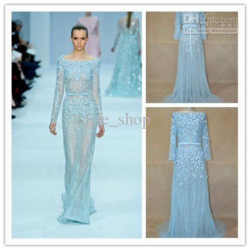 2013 Gossip Girl Elie Saab Evening Dresses Real Picture A Line Red ...