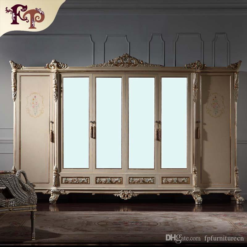 2019 Antique Classic Furniture Baroque Wardrobe Italian Bedroom Furniture  Luxury Hand Carved 6 Doors Wardrobe With Mirror From Fpfurniturecn, $5278.4  ...