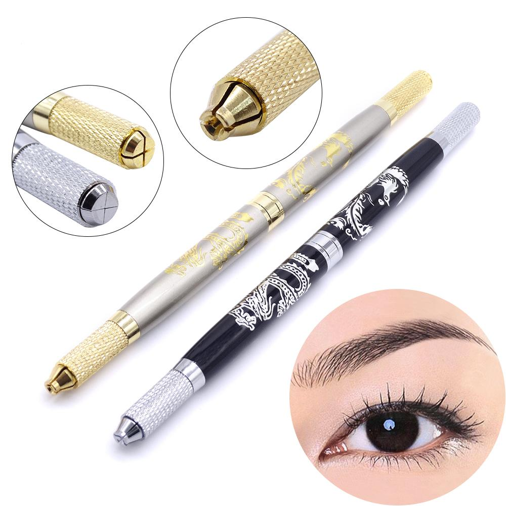 Permanent Makeup Machine Pen Supply Embroidery Art Eyebrow Manual Tebori Pen With 2 Types Slot Suitable For All Microblading Needles