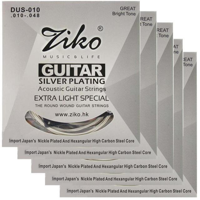 5sets/lot 010-048 ZIKO DUS-010 Acoustic guitar strings guitar parts wholesale musical instruments