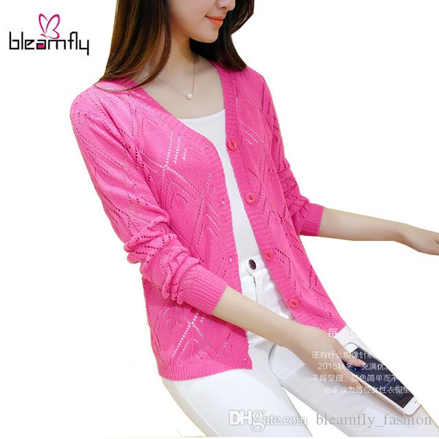 T-shirt a maniche lunghe per donna autunno-inverno a maniche lunghe colore rosa Colore bianco Cappotto Basic Cappe femminili Ponchoes Hollow Out Jacket