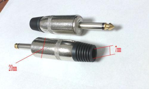 10pcs 6.35mm Mono Audio Plug adaptateur de soudure connecteur