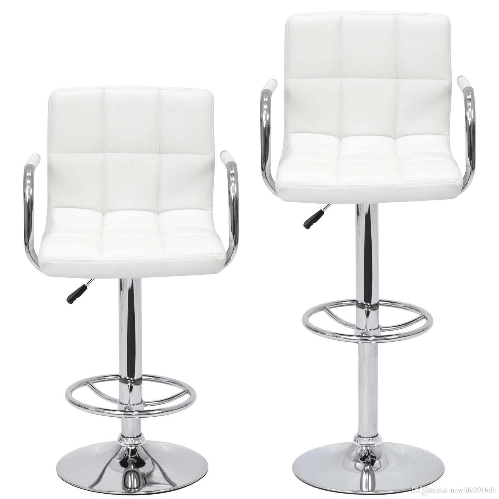 Admirable Of 2 Swivel Hydraulic Height Adjustable Leather Pub Bar Stools Chair White From Newlife2016Dh 110 56 Dhgate Com Machost Co Dining Chair Design Ideas Machostcouk