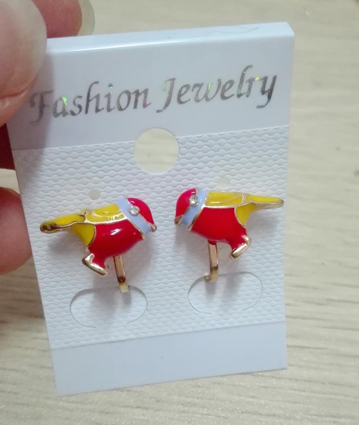 Bijoux 2017 di nuovo modo coreano gocciolare clip di strass oro orecchini per le donne non trafitto uccello bowknot polsino dell'orecchio gioielli ragazze regalo