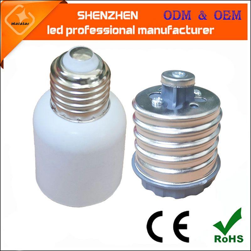 E26 E27 مصباح هالوجين قواعد جديدة LED CFL لمبة ضوء E40 إلى E27 مصباح محول محولات E39 E40 الشارع الذرة مأخذ ضوء