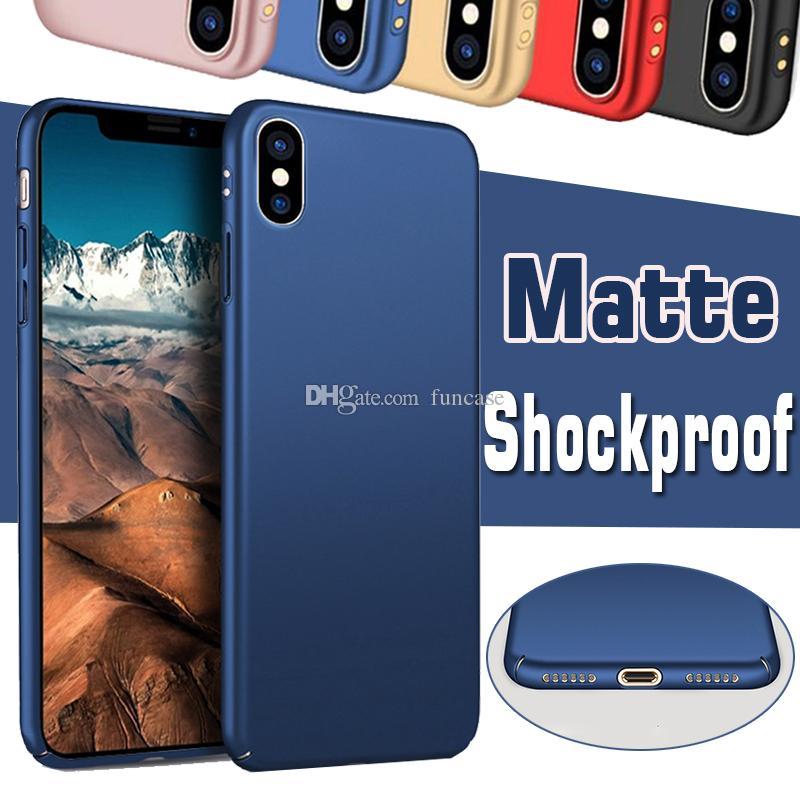 Hard Cover di colore della caramella Frosted completo del corpo di caso per iPhone 11 Pro Max XS XR X 8 7 Plus Samsung Galaxy S10 E S9 A6S A8S M10 M20 M30 A20 A40 A50