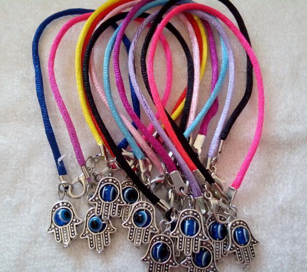 "100pcs mixte Knot Chinois Hamsa Main ""Evil Eye"" Bracelets à cordes Lucky Charms Pendentif 20cm"