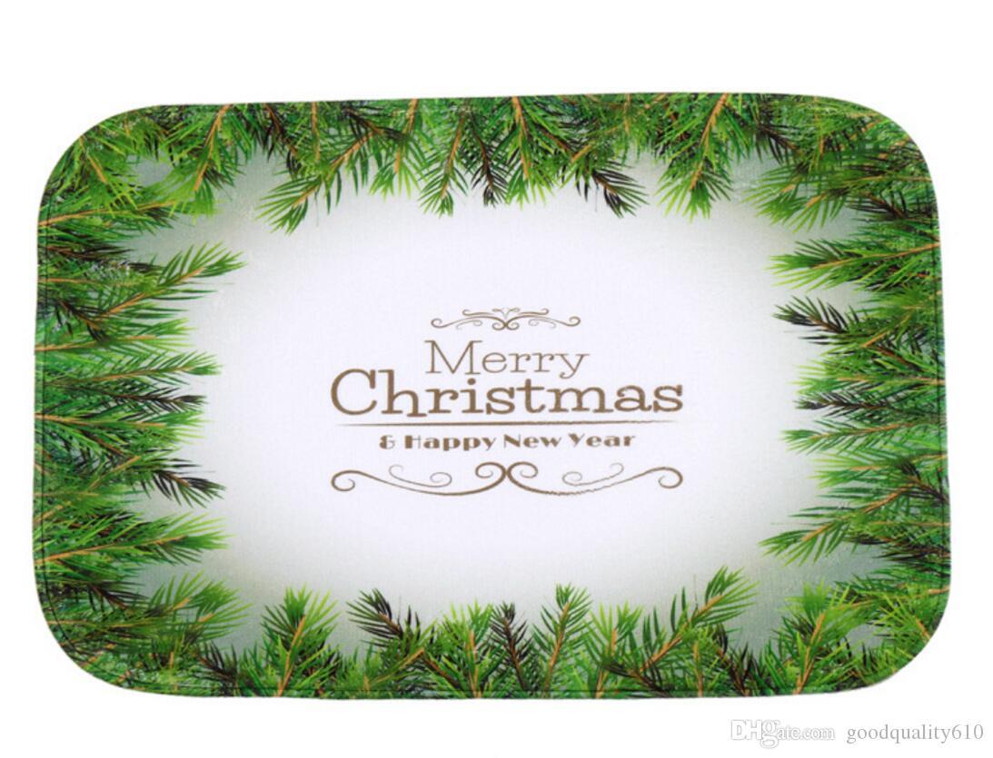 40 * 60cm Foglia Verde Natale Bagno tappeti antiscivolo Tappeti corallo del panno morbido tappeto per Per Bagno Camera Zerbino online