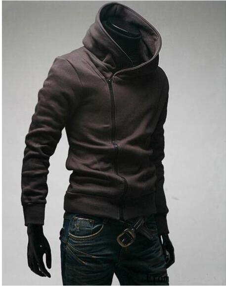 卸売 - 送料無料ハイカラーメンズジャケットトップダストコートパーカー服M L XL XXL XXXL春の新しい男性傾斜ジッパー