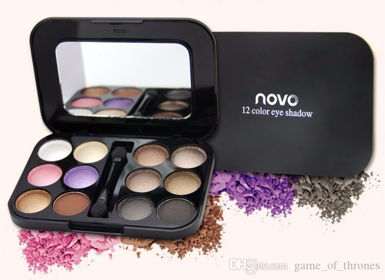 NOVO High quality 6 different style 12 color eyeshadow long-lasting/natural/waterproof eye makeup Eye shadow Palette