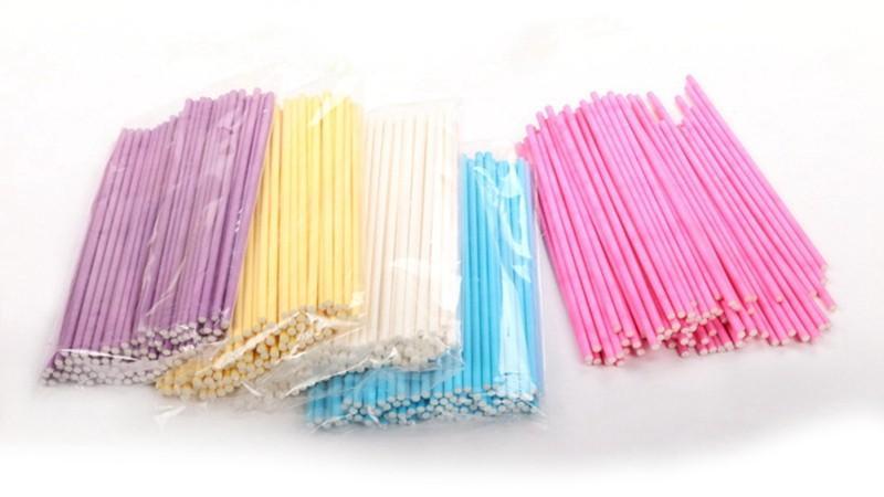 100pcs Colorful Lollipop Stick 15CM Papen Cake Pop Sticks for Lollypop Lollipop Candy Chocolate Sugar Cudgel Pole Handle Rod (2)